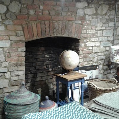 Fireplace in the basement