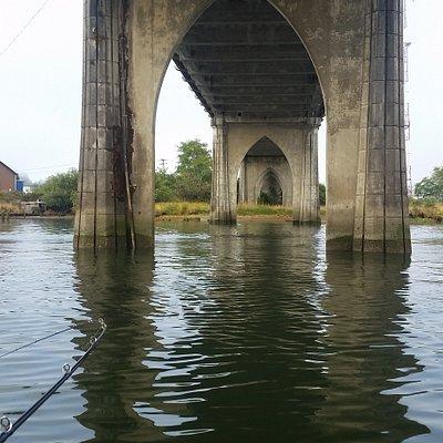 View from under bridge toward reedsport