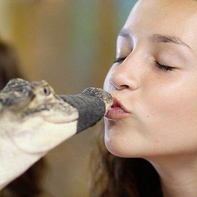 Kiss a gator!