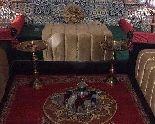 Moroccan sitting area in argana