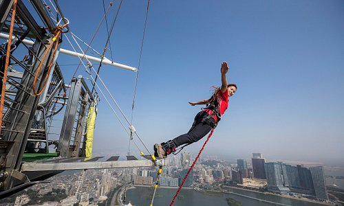 Highest Bungy Jump in the World - 233M from Macau Tower