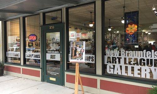 Front door of gallery