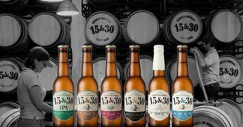 Seis tipos de cerveza diferentes, todas con alma de sherry