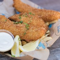 Fish & Chips! Panko Crusted!