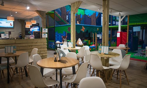 Clubhouse Cafe next to soft play frame