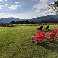 Sit back and relax with a beautiful view of the Blue Ridge Mountains