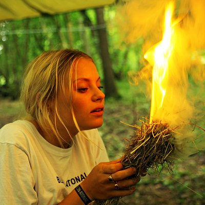 Learn how to light fire using ancient skills.
