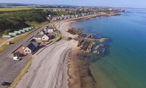 Birds Eye View of our Building on the Shores of the Moray Firth