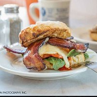 Our famous Big Biscuit with Bacon