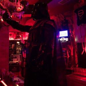 Aspecto del grifo de cerveza - a lo Darth Vader