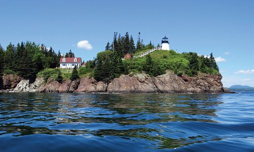 A view of Owls Head Lighthouse from the water