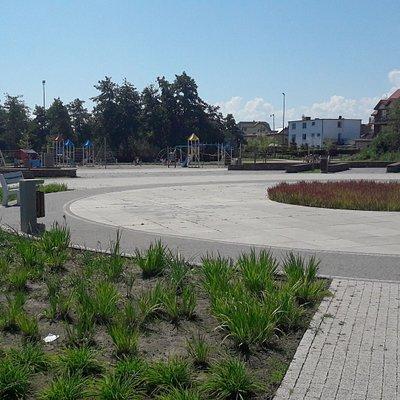"""Rezerwat przyrody """"Słone łąki"""" - plac zabaw"""