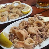 Fritto misto e frittura di calamari