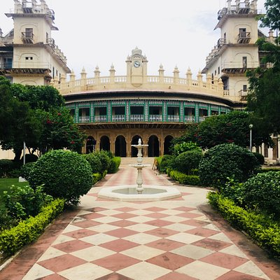 Moti Mahal front Entrance view with Gardens and central pathway