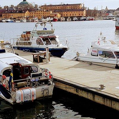 Our homeport at Strandvägen kajplats 21 in Stockholm