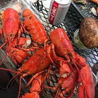 Take-out lobster dinner from Harris Teeter grocery, Amelia Island