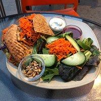 Falafel Quesadilla With Salad