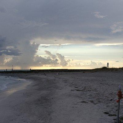 spiagge bianche di sera