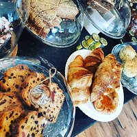 Selection of cakes & freshly baked pastries