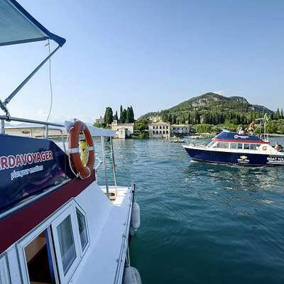 Gardavoyager's boat near punta San Vigilio