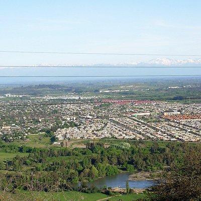Vista al oriente de la ciudad desde el mirador