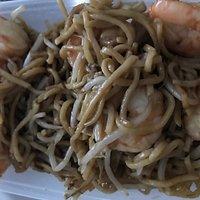 King Prawn Chow Mein - reheated, soggy & tasteless