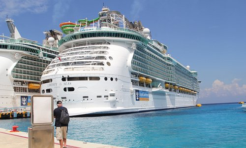 Liberty of the Seas docked in Cozumel