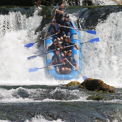 Thrill never stops on our top rafting tour in Una National Park: Štrbački Buk - Loskun!