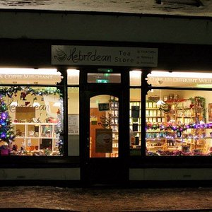 shop front in winter
