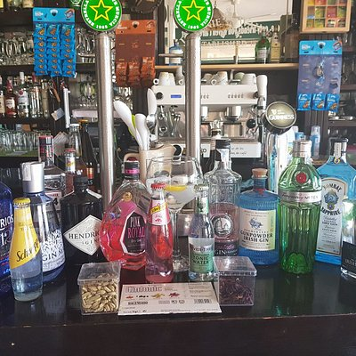 Wide selection Gin and tonic including Fever tree....always adding more.