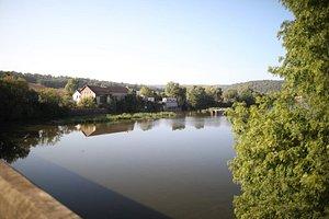 Le pont de la Moselle avant d'arriver à Millery