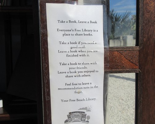 Instructions for the Beach Library (in a Boat)!