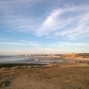 La Pointe aux Oies, au nord de Wimereux, avec vue sur Ambleteuse.