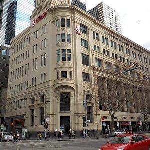 From Melbourne Central station corner