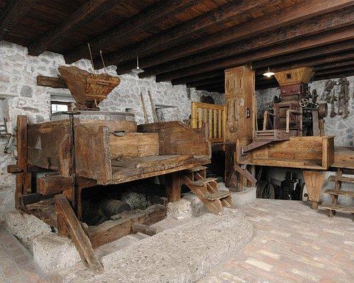 Interno del Museo dell'arte molitoria (sala macine dell'antico Mulino Cocconi)