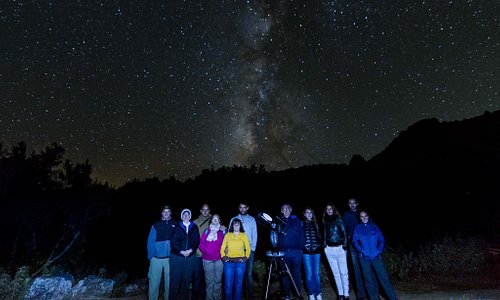 Noche de observación astronómica desde el mirador del Llano de Las Ventas