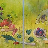 Großes Wandbild von Katrin Merle