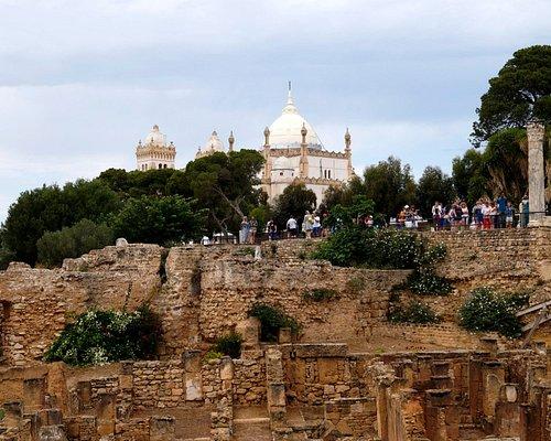 Развалины с видом на собор Святого Людовика