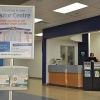Visitor Information Centre inside Pomeroy Sport Centre