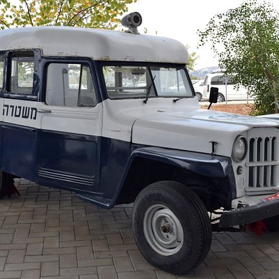 Willys station wagon - an interesting vehicle despite rust and an inaccurate paint job.