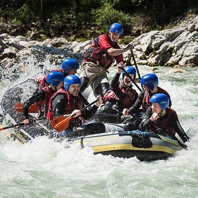 Rafting auf der Saalach bei Lofer mit dem Motion Center, Naturerlebnis u. Spass im Wildwasser