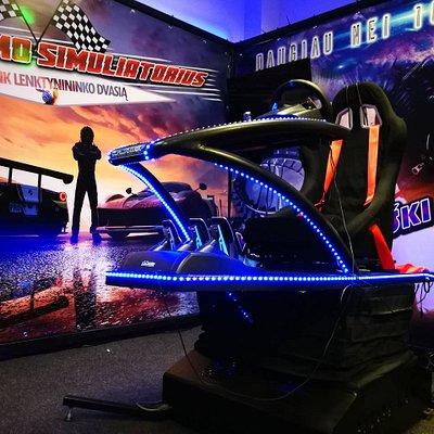 Virtual reality racing and roller coaster simulator.