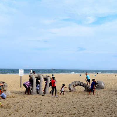 Buried in the Ocean City sand, near the amusement and arcade area, is an interesting playground.