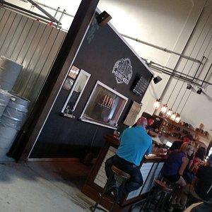 far side wall, looking at bar