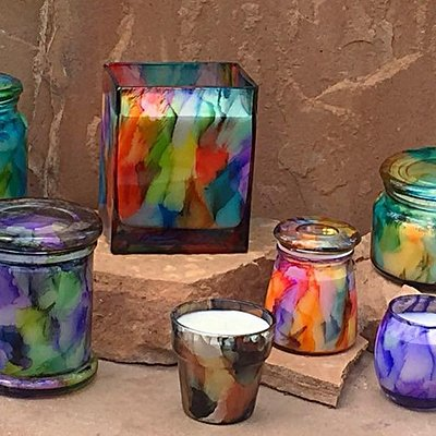 Locally made arts such as candles, taperstries, ceramics and more