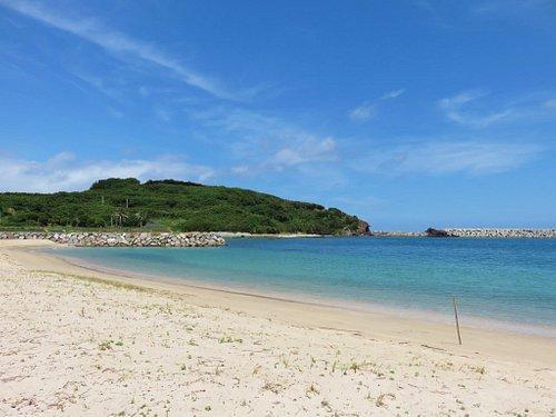島唯一の白い砂浜