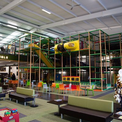 Huge play frame - trampolines, ball pool, aerial runway, slides, sports court, under 3's, WOW to