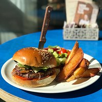 Vegan mega burger