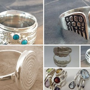 Silver rings locally crafted at The Zuri Collection