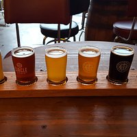 My first Circle Brewing flight of beer